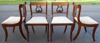 Lyre Back Chairs Antique by Of Six Regency Style Inlaid Mahogany Lyre Back Dining Chairs Sold