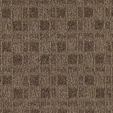 Urban Square Earthen Brown Commercial Home Carpet