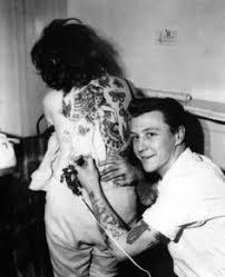 Old School Back Tattoo