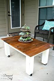 Diy Patio Side Table Topic Related To Rustic Outdoor Coffee Table