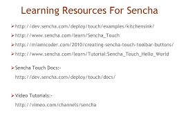 Sencha Kitchen Sink Example by Sencha Touch