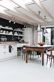 Eat Love The Black Wall To Splashback Of Kitchen Combined With