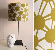 View In Gallery DIY Fabric Covered Lampshade Design