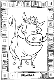 The Lion King Coloring Pictures Of Jungle Characters Like Pumbaa