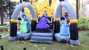 Halloween Yard Inflatables by Inflatable Light Show Organ With Ghost Dancers And Xray Skeleton