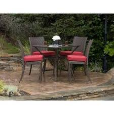 3 Piece Bar Height Patio Bistro Set by Hampton Bay Fall River 3 Piece Bar Height Patio Dining Set With