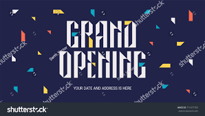 Template Banner Or Horizontal Poster With Abstract Background For Opening Event