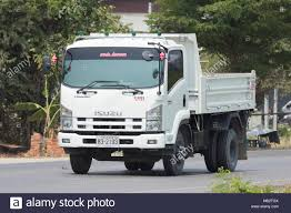 CHIANG MAI, THAILAND - APRIL 5 2018: Private Isuzu Dump Truck. On ...