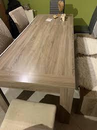 esszimmer tisch 3 stühle und bank