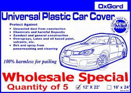 Oxgord Trim 4 Fit Floor Mats by Plastic Car Covers Disposable Car Covers Temporary Car Covers