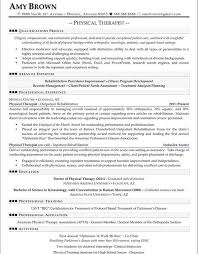 Enjoyable Design Physical Therapy Resume Sample 7 Physical Therapy