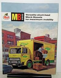 100 Mack Truck Models 1964 Model MB Sales Brochure With Front Page Fold Out