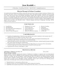 Sample Resume For Physical Therapist Foodcity Me