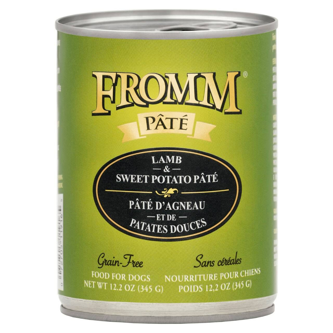 Fromm Lamb & Sweet Potato Pate Canned Dog Food 12.2 oz