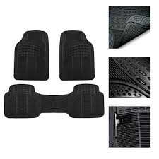 BESTFH: 3 Row Floor Mats For AUTO SUV TRUCK MINIVAN Tactial Fit ...