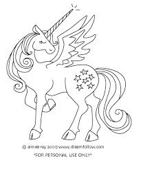 Amazing Free Unicorn Coloring Pages Winged With
