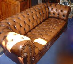 canape chesterfield cuir occasion