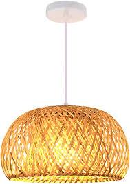 verdelife webende pendelleuchte milchig weißer glasschirm rattan lenschirm retro bambus deckenleuchte für home restaurants wohnzimmer decro
