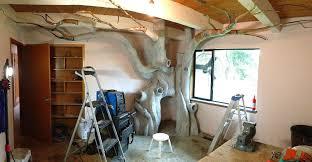 il construit un arbre dans la chambre de sa fille image