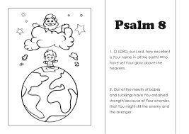 Coloring Pages Psalm 8 1 O LORD Our Lord How Excellent Is Your Name In