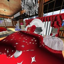 Second Life Marketplace Red Silver Glitter Star Heart Shaped