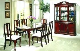 9 Queen Anne Cherry Dining Room Chairs Set