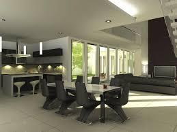 Modern Minimalist Black Dining Room Furniture Ideas