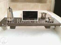 Bathtub Caddy With Reading Rack by Rustic Bathtub Caddy Wood Bathtub Tray Bath Shelf