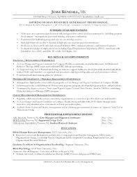 Resume Changing Careers Example Human Resources Career Change Free Sample For