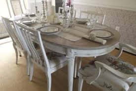 White Vintage French Country Kitchen Table Set