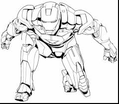 Incredible Iron Man Coloring Pages Printable With Superhero And Online