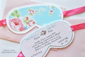 Pick A Cute Spa Theme To Feature On The Bridal Shower Invitations I Love Idea Of Creating Sleep Mask Shaped Like Ones Above
