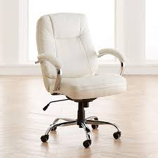BrylaneHome Extra Wide Women's Office Chair - Ice