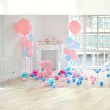 3rd Birthday Photography Backdrops 3D Balloons Photo Studio Background Cloth For Baby Child Kids Infants 5x3ft Party Decorations