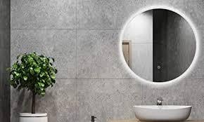 alldrei badspiegel mit licht runder badezimmerspiegel mit