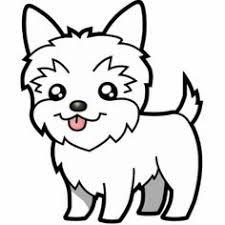 Free Yorkie Clip Art And Coloring Page