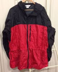columbia lightweight packable rain jacket size mens l hooded