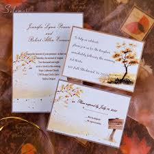 Country Side Style Gold Rustic Fall Cheap Wedding Invitations EWI045 As Low 094