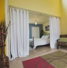 wohnzimmer und schlafzimmer vorhang raumteiler home