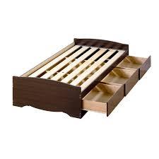 Amazon Prepac Espresso Twin XL Mates XL Platform Storage Bed