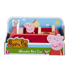 peppa pig wooden play family car