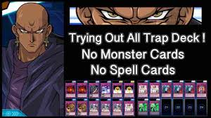 yugioh duel links best deck odion s all traps deck youtube