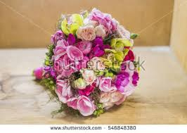 Modern Wedding Bouquet Vivid Magenta Color Stock Royalty Free
