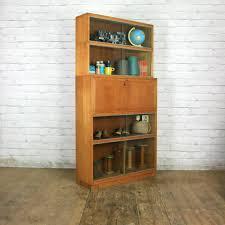 vintage bureau vintage oak sectional glazed storage shop display cabinet
