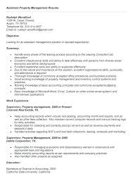 Management Resume Objective Examples Manager Assistant Property In