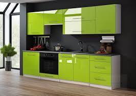 küchenzeile lime hochglanz weiß 240 cm küche küchenblock arbeitsplatte relinggriffe modern einbauküche pistazie