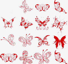Paper Cut Vector Butterfly Clipart Part Time