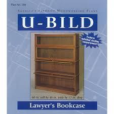 shop u bild lawyer u0027s bookcase woodworking plan at lowes com