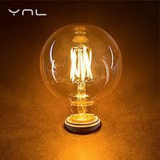4pcs e27 g45 g80 g95 brand antique led edison bulb 220v 4w 6w 8w