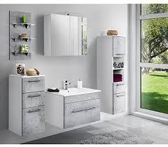 lomadox badezimmer spiegelschrank in weiß 75cm breite mit